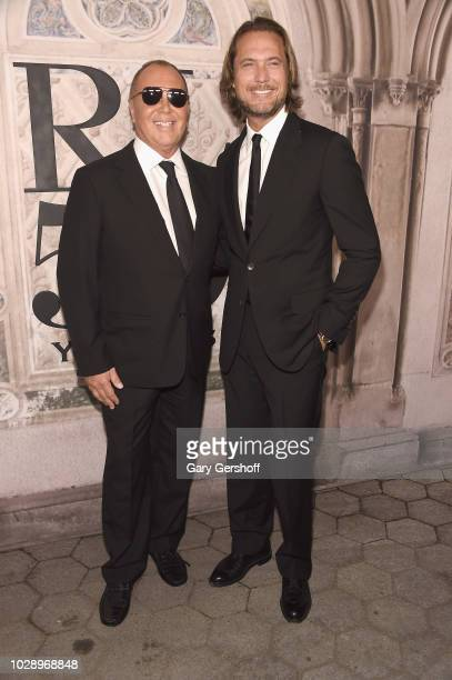 Michael Kors and Lance LePere attend the Ralph Lauren 50th Anniversary event during New York Fashion Week at Bethesda Terrace on September 7 2018 in...