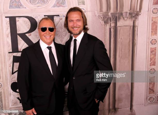 Michael Kors and Lance LePere attend the Ralph Lauren fashion show during New York Fashion Week at Bethesda Terrace on September 7 2018 in New York...