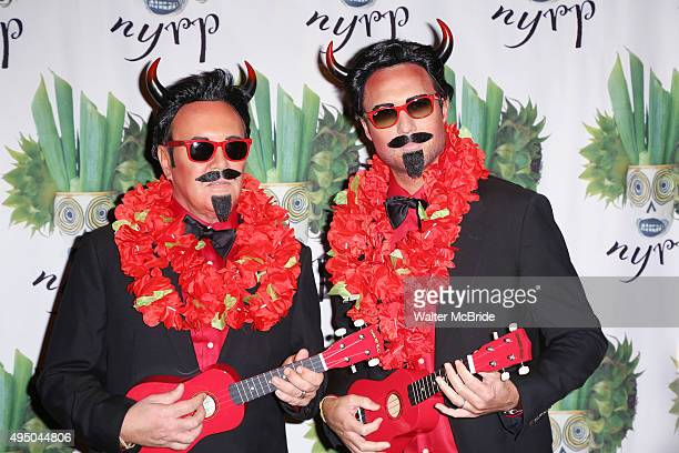 Michael Kors and Lance LePere attends Bette Midler's annual Hulaween Party Celebrating New York Restoration Project's 20th anniversary on October 30...
