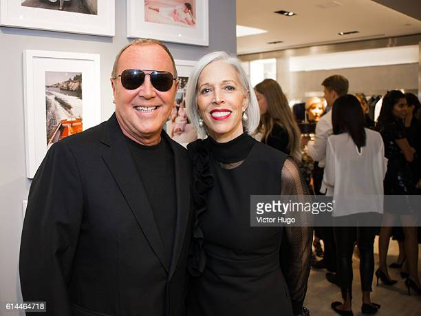 Michael Kors and Linda Fargo attend the 35th Anniversary at Bergdorf Goodman and the Release of 'Slim Aarons Women' by Getty Images and Abrams at...