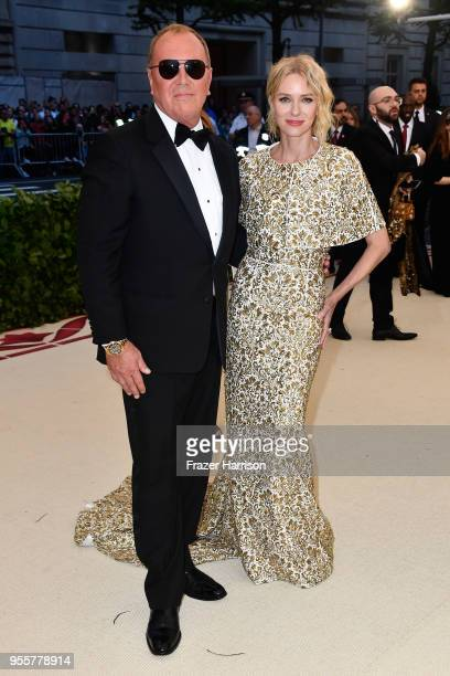 Michael Kors and Naomi Watts attends the Heavenly Bodies Fashion The Catholic Imagination Costume Institute Gala at The Metropolitan Museum of Art on...