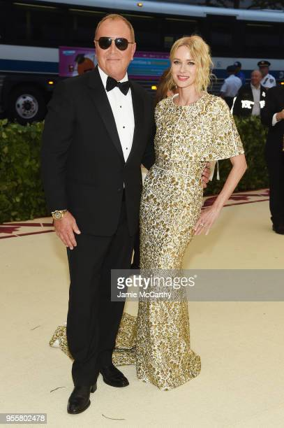 Michael Kors and Noami Watts attend the Heavenly Bodies Fashion The Catholic Imagination Costume Institute Gala at The Metropolitan Museum of Art on...