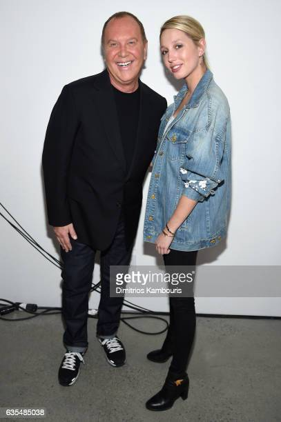 Michael Kors and Princess MariaOlympia of Greece and Denmark attend the Michael Kors Collection Fall 2017 runway show at Spring Studios on February...
