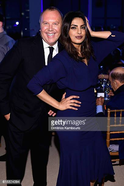 Michael Kors and Priyanka Chopra attend the God's Love We Deliver Golden Heart Awards on October 17, 2016 in New York City.