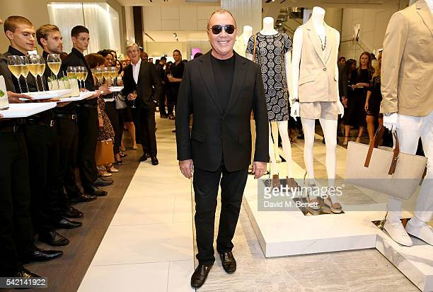 Michael Kors attends a cocktail party hosted by Michael Kors in celebration of their new Regent Street Flagship Store opening at the Michael Kors...