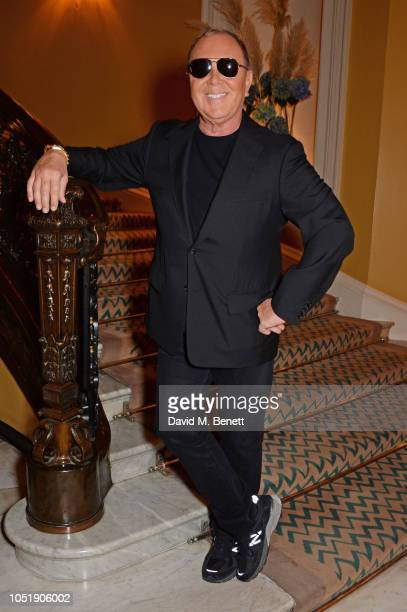Michael Kors attends the Michael Kors cocktail party to celebrate the collaboration with David Downton at Claridge's Hotel on October 11 2018 in...