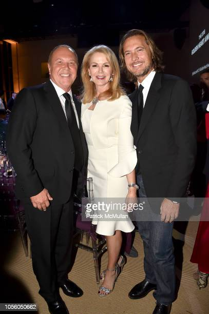 Michael Kors Blaine Trump and Lance Lepere attend The 12th Annual Golden Heart Awards at Spring Studios on October 16 2018 in New York City