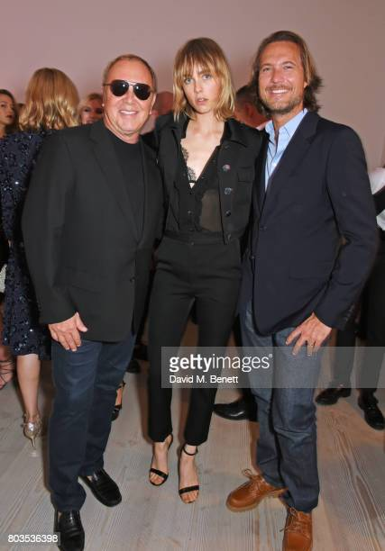 Michael Kors Edie Campbell and Lance Lepere attend Tatler's English Roses 2017 in association with Michael Kors at the Saatchi Gallery on June 29...