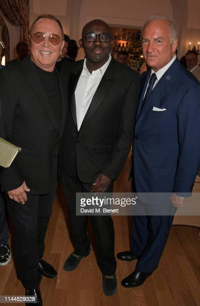 Michael Kors Edward Enninful and CEO of Finch Partners Charles Finch attend the 10th Annual Filmmakers Dinner hosted by Charles Finch Edward Enninful...