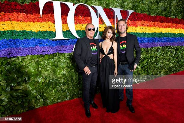 Michael Kors Emily Ratajkowski and Lance LePere attend the 73rd Annual Tony Awards at Radio City Music Hall on June 09 2019 in New York City