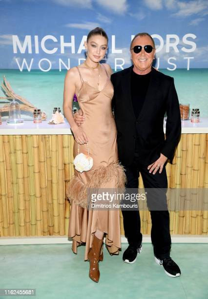 Michael Kors & Gigi Hadid bring Fantasy Island to NYC for the launch of the latest Wonderlust Fragrance Campaign on July 16, 2019 in New York City.