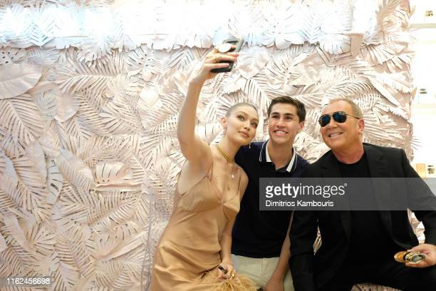 Michael Kors Gigi Hadid bring Fantasy Island to NYC for the launch of the latest Wonderlust Fragrance Campaign on July 16 2019 in New York City