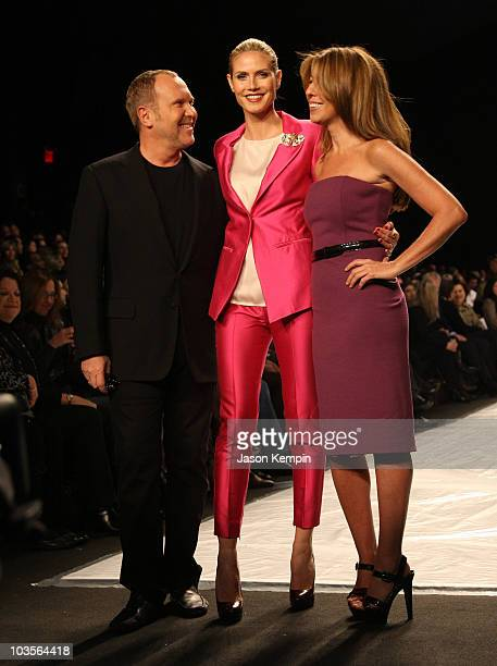 Michael Kors Heidi Klum and Nina Garcia attend Project Runway Fall 2009 during MercedesBenz Fashion Week at The Tent in Bryant Park on February 20...