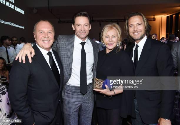 Michael Kors Hugh Jackman Deborralee Furness and Lance LePere attend God's Love We Deliver Golden Heart Awards at Spring Studios on October 16 2018...