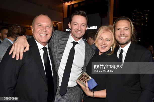 Michael Kors Hugh Jackman Deborralee Furness and Lance LePere attend The 12th Annual Golden Heart Awards at Spring Studios on October 16 2018 in New...
