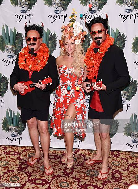 Michael Kors Jane Krakowski and Lance LePere attend 2015 Hulaween Party Celebrating New York Restoration Project's 20th Anniversary at The Waldorf...