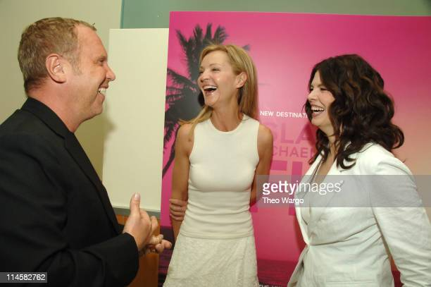 Michael Kors, Joan Allen and Jeanne Tripplehorn during Michael Kors VIP Luncheon To Celebrate the Launch of His New Fragrance Island Michael Kors...