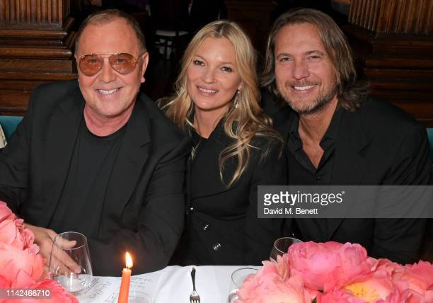 Michael Kors Kate Moss and Lance LePere attend a private dinner hosted by Michael Kors to celebrate the new Collection Bond St Flagship Townhouse...