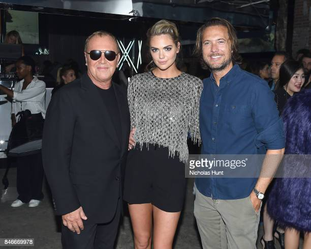 Michael Kors Kate Upton and Lance LePere attend Michael Kors and Google Celebrate new MICHAEL KORS ACCESS Smartwatches at ArtBeam on September 13...