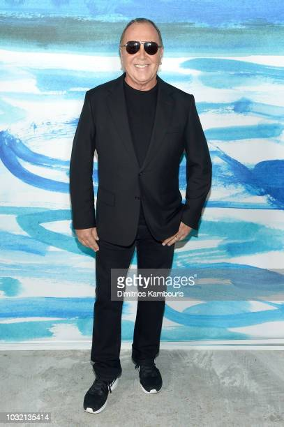 Michael Kors poses backstage during the Michael Kors Collection Spring 2019 Runway Show at Pier 17 on September 12 2018 in New York City