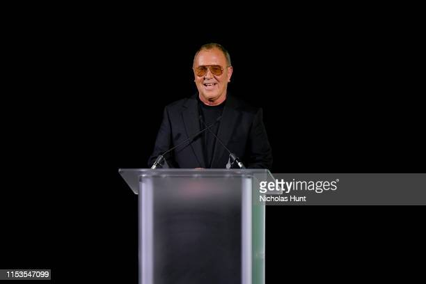 Michael Kors speaks onstage during the CFDA Fashion Awards at the Brooklyn Museum of Art on June 03, 2019 in New York City.