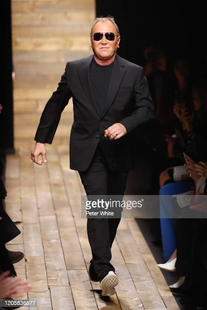 Michael Kors walks the runway during the Michael Kors FW 2020 fashion show at the American Stock Exchange on February 12, 2020 in New York City.