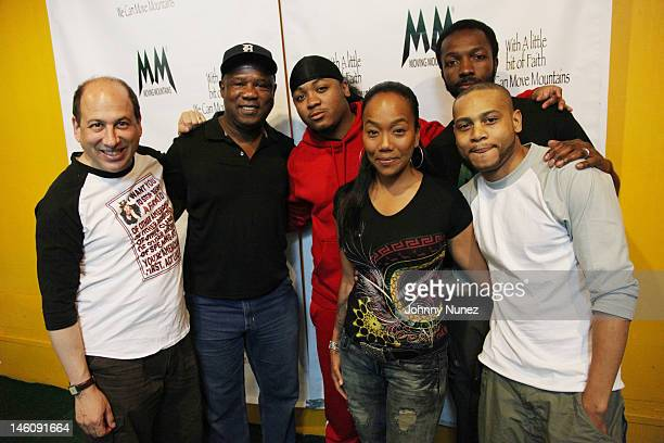 Michael Kostroff, Isiah Whitlock Jr., Julito McCullum, Sonja Sohn, Jamie Hector and JD Williams attend the Moving Mountains Celebrity Paintball...