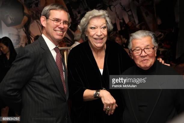 Michael Kowalski, Elsa Peretti and Hiro attend ELSA PERETTI Celebrates 35 Years with TIFFANY & Co. At Tiffany & Co. On December 10, 2009 in New York...