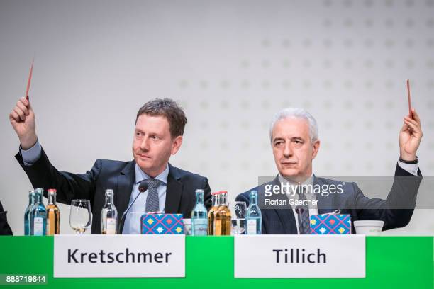 Michael Kretschmer designated prime minister of the German State of Saxony and Stanislaw Tillich CDU prime minister of the German state of Saxony is...
