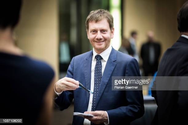 Michael Kretschmer prime minister of the German State of Saxony is pictured before the meeting of the Bundesrat on September 21 2018 in Berlin Germany