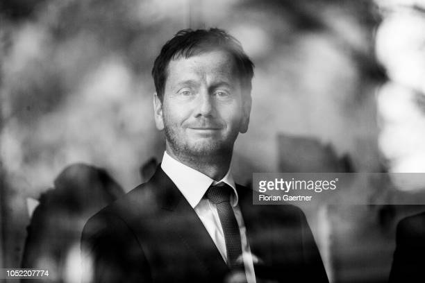 Michael Kretschmer prime minister of the German State of Saxony is pictured on October 15 2018 in Goerlitz Germany