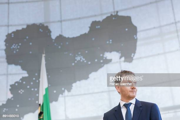 Michael Kretschmer prime minister of the German State of Saxony is pictured on December 13 2017 in Dresden Germany Kretschmers predecessor Stanislaw...