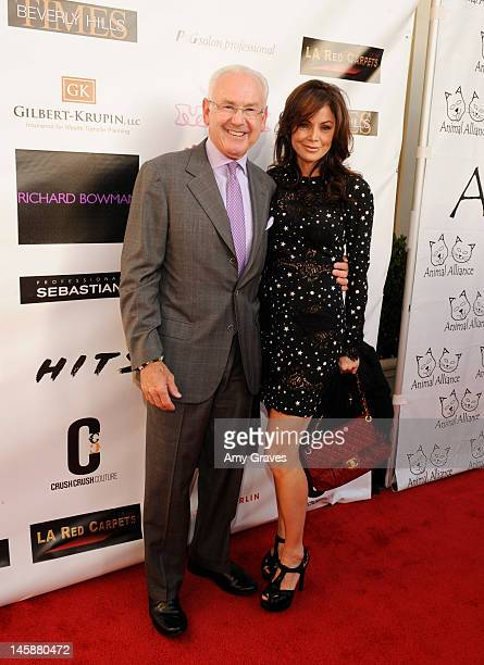 Michael Krupin and Deborah Driggs attend the Haute Blondes and Barkin' Bitches Fashion Show at Montage Beverly Hills on June 6 2012 in Beverly Hills...