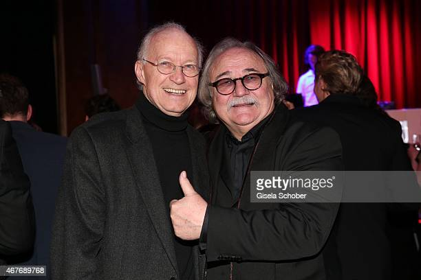Michael Kunze Sylvester Levay during the premiere of the musical 'Elisabeth' at Deutsches Theatre on March 26 2015 in Munich Germany