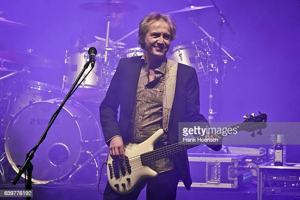 Michael Kunzi of the German band Muenchener Freiheit performs live during a concert at the Friedrichstadtpalast on January 23, 2017 in Berlin,...