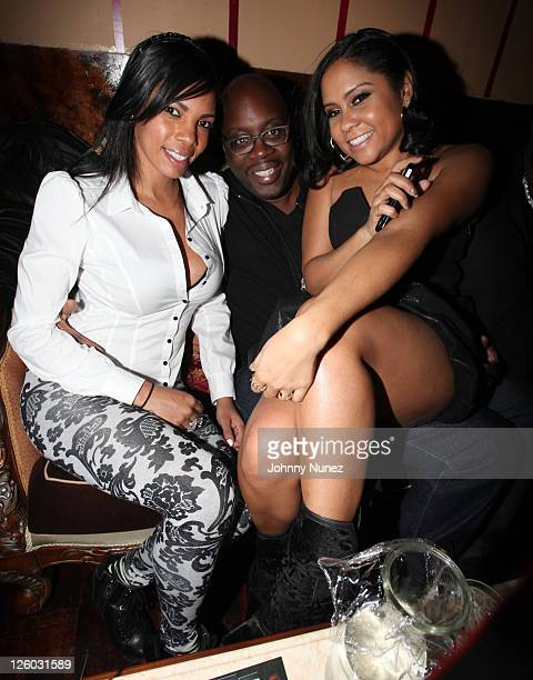 Michael Kyser and Angela Yee attend Angela Yee's birthday party at The Actor's Playhouse on January 7 2011 in New York City