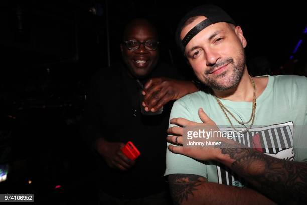 Michael Kyser and DJ Prostyle attend the Atlantic Records Access Granted Showcase on June 13 2018 in New York City