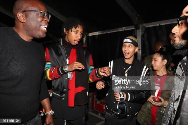 Michael Kyser Prince Nasir Dean 070 Shake and Swizz Beatz attend Summer Jam 2018 at MetLife Stadium on June 10 2018 in East Rutherford New Jersey