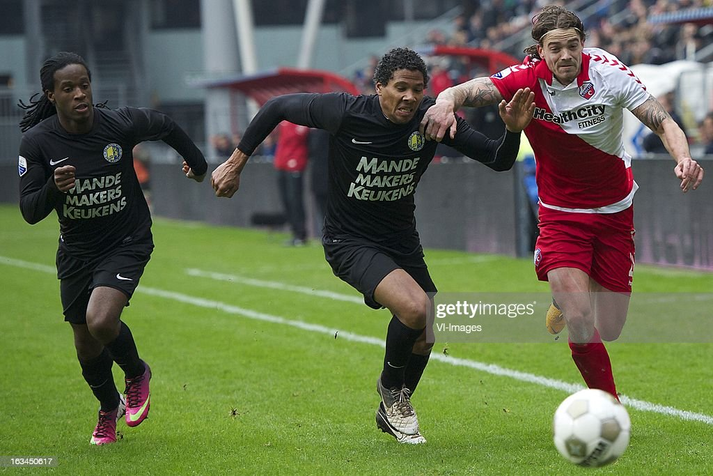 Michael Lamey of RKC Waalwijk, Dave Bulthuis of FC Utrecht during the Dutch Eredivisie match between FC Utrecht and RKC Waalwijk at the Galgenwaard on march 10, 2013 in Utrecht, The Netherlands