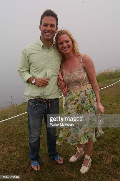 Michael Lander and Jennifer Talbot attend Junko Yoshioka Presents Her Evening Wear Collection at Peter and Nejma Beard Residence on July 16 2005 in...