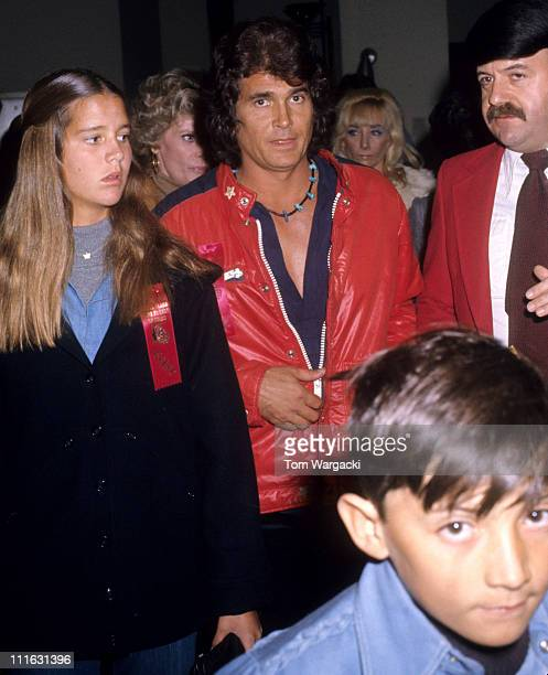 Michael Landon and family during Michael Landon and family at Hollywood Christmas Parade December 22nd 1976 in Los Angeles United States