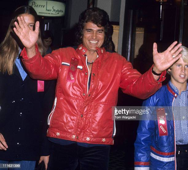 Michael Landon and family during Michael Landon and family at Hollywood Christmas Parade - December 22nd 1976 in Los Angeles, United States.