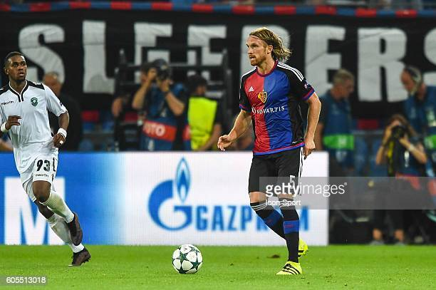 Michael Lang of Basel during the Uefa Champions League match between Basel Fc and PFC Ludogorets Razgrad on September 13 2016 in Basel Switzerland