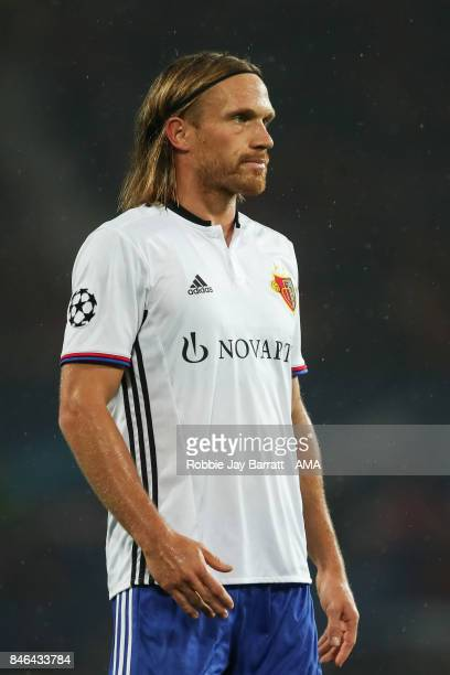 Michael Lang of FC Basel during the UEFA Champions League match between Manchester United and FC Basel at Old Trafford on September 12 2017 in...