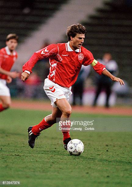 Michael Laudrup in action during a friendly match against Germany Germany won 20