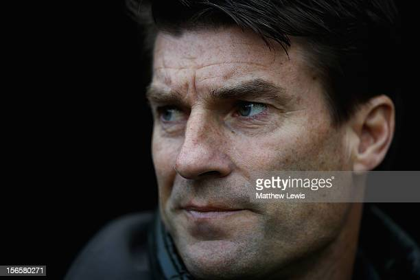Michael Laudrup manager of Swansea City looks on during the Barclays Premier League match between Newcastle United and Swansea City at St James' Park...