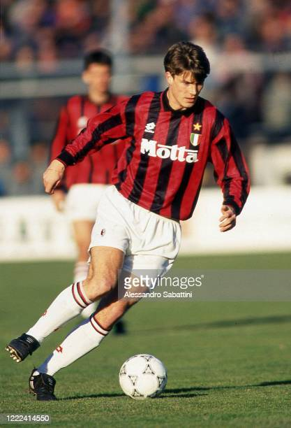 Michael Laudrup of AC Milan in action during the Serie A 199394 Italy