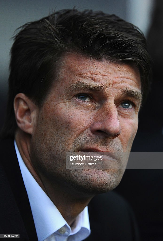 Michael Laudrup of Swansea City looks on during the Barclays Premier League match between Swansea City and Chelsea at Liberty Stadium on November 3, 2012 in Swansea, Wales.