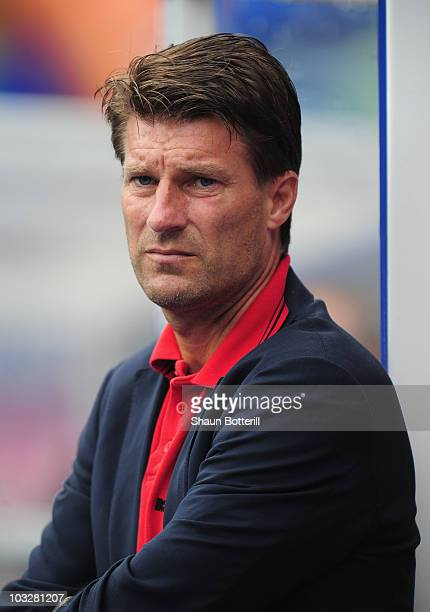 Michael Laudrup the Real Mallorca coach during the friendly match between Birmingham City and Real Mallorca at St Andrew's Stadium on August 7 2010...