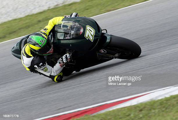 Michael Laverty of Great Britain and Paul Bird Motorsport rounds the bend during the MotoGP Tests in Sepang Day Five at Sepang Circuit on February 7...
